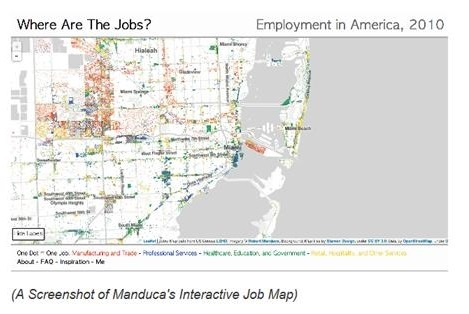 Longitudinal EmployerHousehold Dynamics - Changes in us employment international mapping